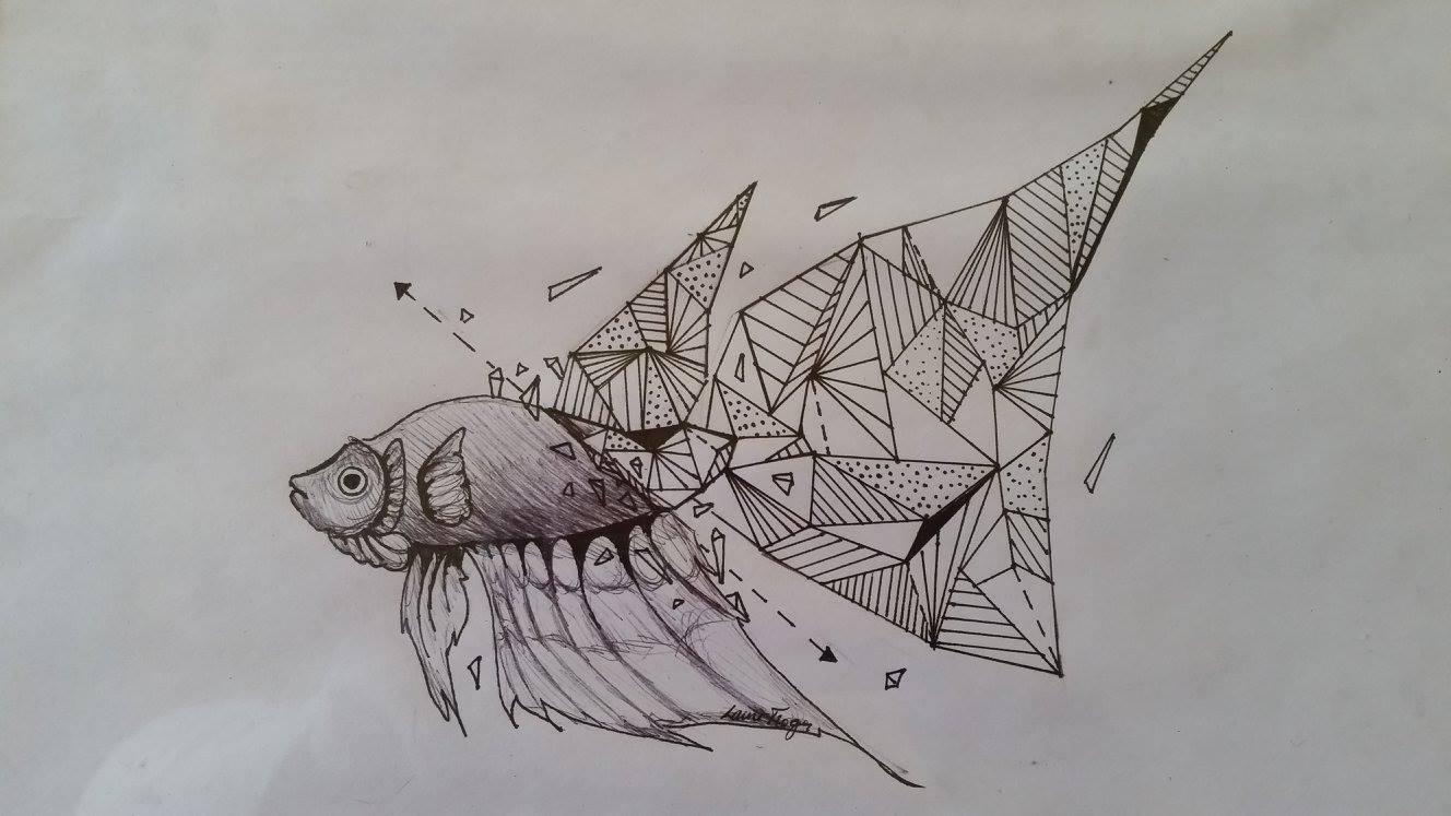 Geometric Fish Drawing by Lauren Troeger Grade 9.jpg